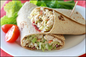 HG's Yum-Yum Chicken-Salad Wrap