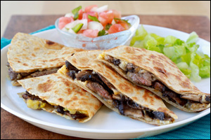 HG's Double-Stuffed Steak Quesadilla