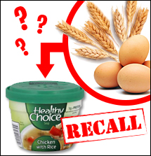 Recall of Healthy Choice Chicken with Rice