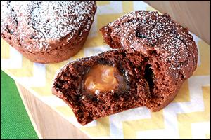 Hungry Girl's Caramel-Stuffed Chocolate Muffin