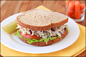Hungry Girl's Top-Shelf Chicken Salad Sandwich