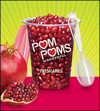 Pom Poms Fresh Pomegranate Arils