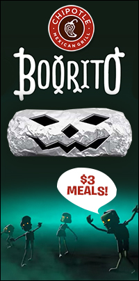Chipotle Offers $3 Meals on Halloween