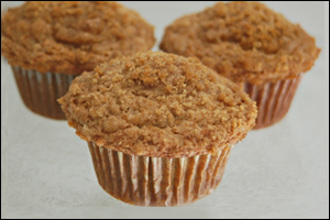 Pumpkin Streusel Muffins, Average