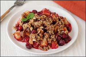 Hungry Girl's Crumbly Cran-Apple Crisp