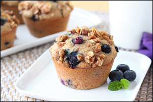 Hungry Girl's Blueberry Streusel Muffins
