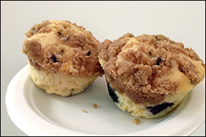 Blueberry Streusel Muffins, Average