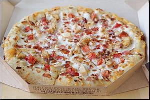 Pizza Hut's Cock-A-Doodle Bacon Pizza