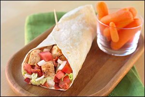 Hungry Girl's Elite Chicken-Bacon-Ranch Burrito
