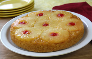 HG's Upside-Down Pineapple-Applesauce Cake