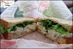 Arby's Market Fresh Grilled Chicken and Pecan Salad Sandwich