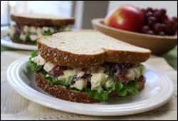HG's Totally Nuts Creamy Chicken Salad Sandwich