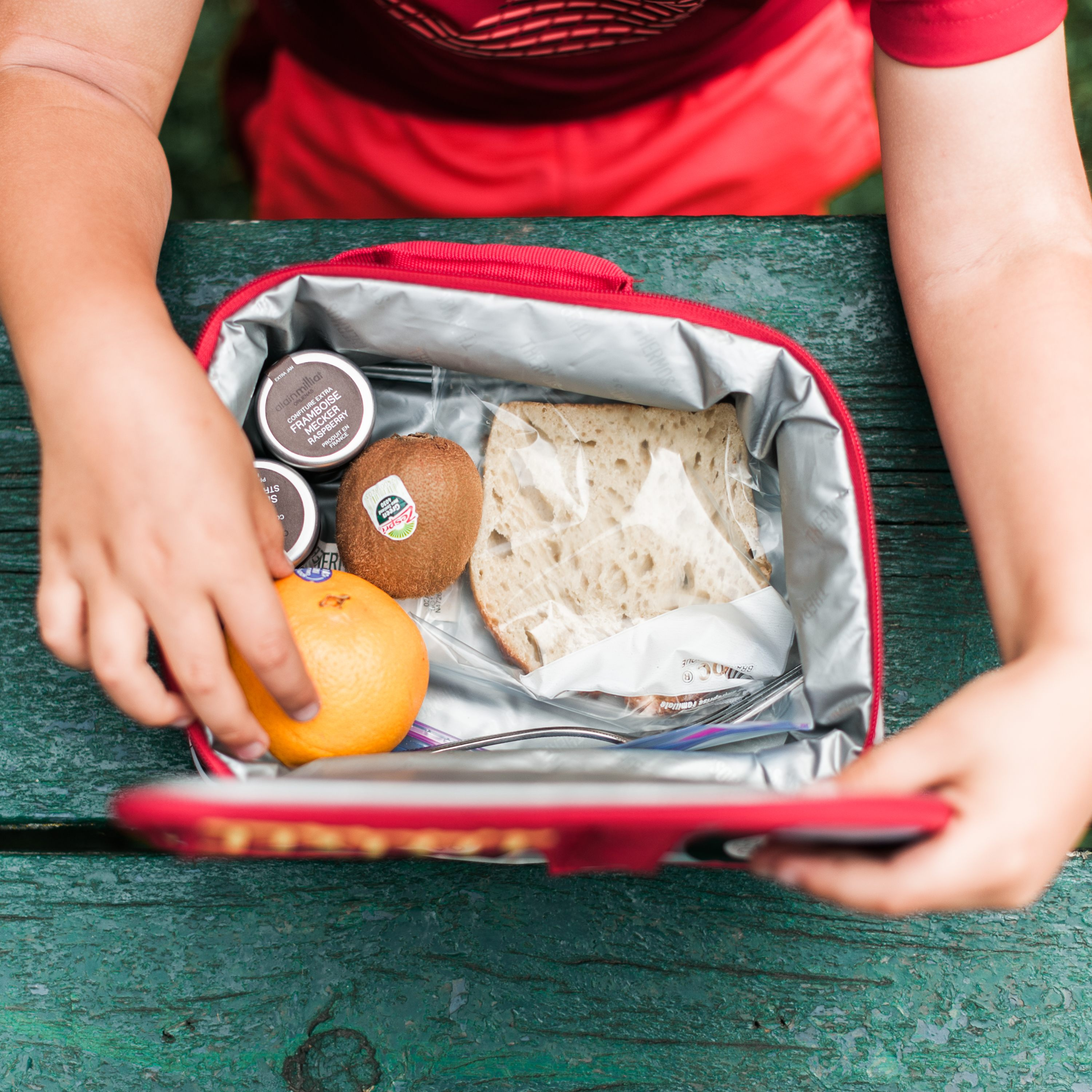 A safely packed lunchbox.