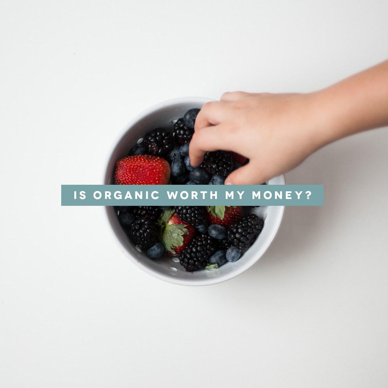 Is organic worth my money?