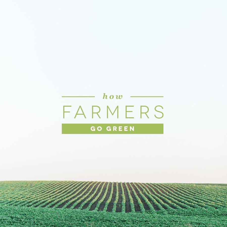 How farmers go green.