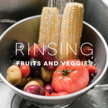 Food Safety Tips: Rinsing Fruits and Veggies