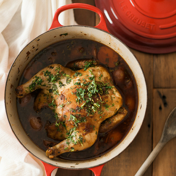 Win A Le Creuset Dutch Oven Warm Up With Bourbon Glazed Chicken Hungry For Truth