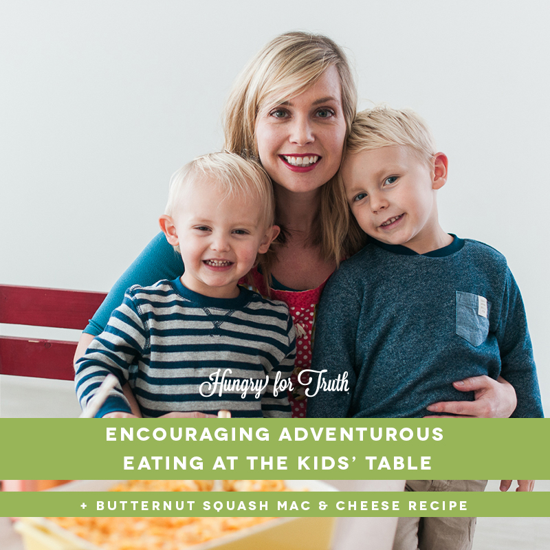 hungry for truth south dakota agriculture farming organic conventional gmo non gmo production practices farming family picky kids picky eaters how to satisfy picky eaters thanksgiving kids table Andrea Boerigter the speech mom butternut spaghetti squash mac and cheese