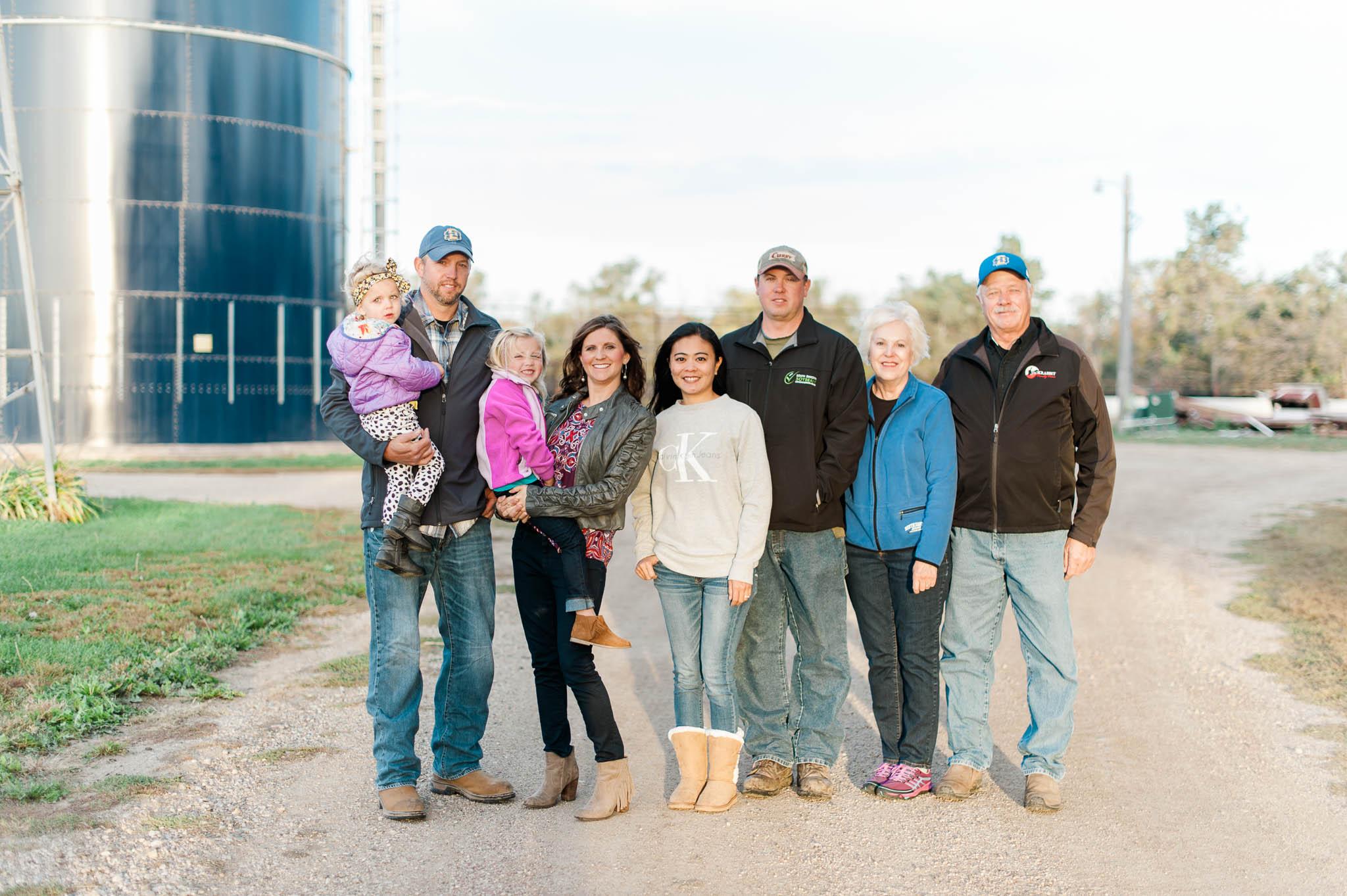 South Dakota farm family.