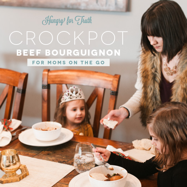 Crockpot Beef Bourguignon for Moms on the Go