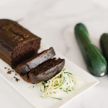 Chocolate Zucchini Bread with fresh zucchini.