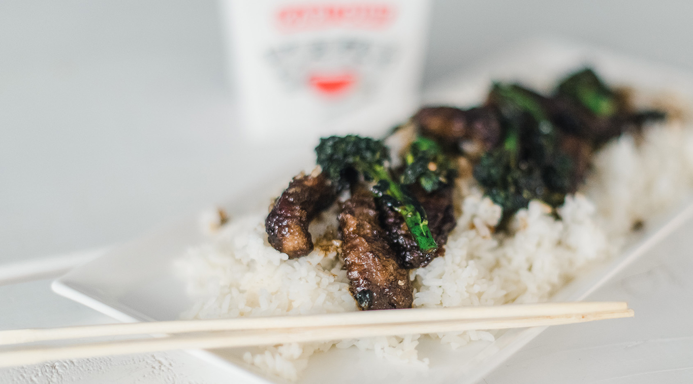 Hungry for Truth Takeout Beef and Broccolini recipe