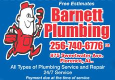 Website for Barnett Plumbing, LLC