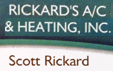 Website for Rickard's Air Conditioning & Heating, Inc.