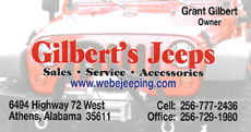 Website for Gilbert's Jeeps