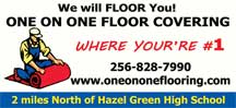 Website for One on One Floor Covering, LLC