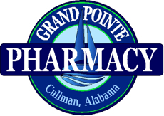 Website for Grand Pointe Pharmacy Coffee & Gifts