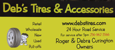 Website for Deb's Tires and Accessories