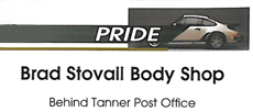 Website for Brad Stovall Auto Body Shop