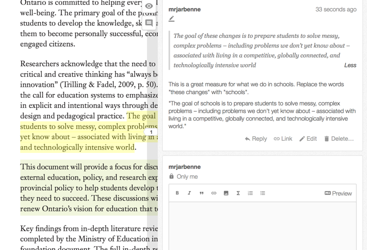Annotating the Web
