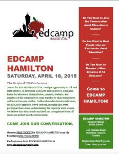EdCamp Hamilton Flyer