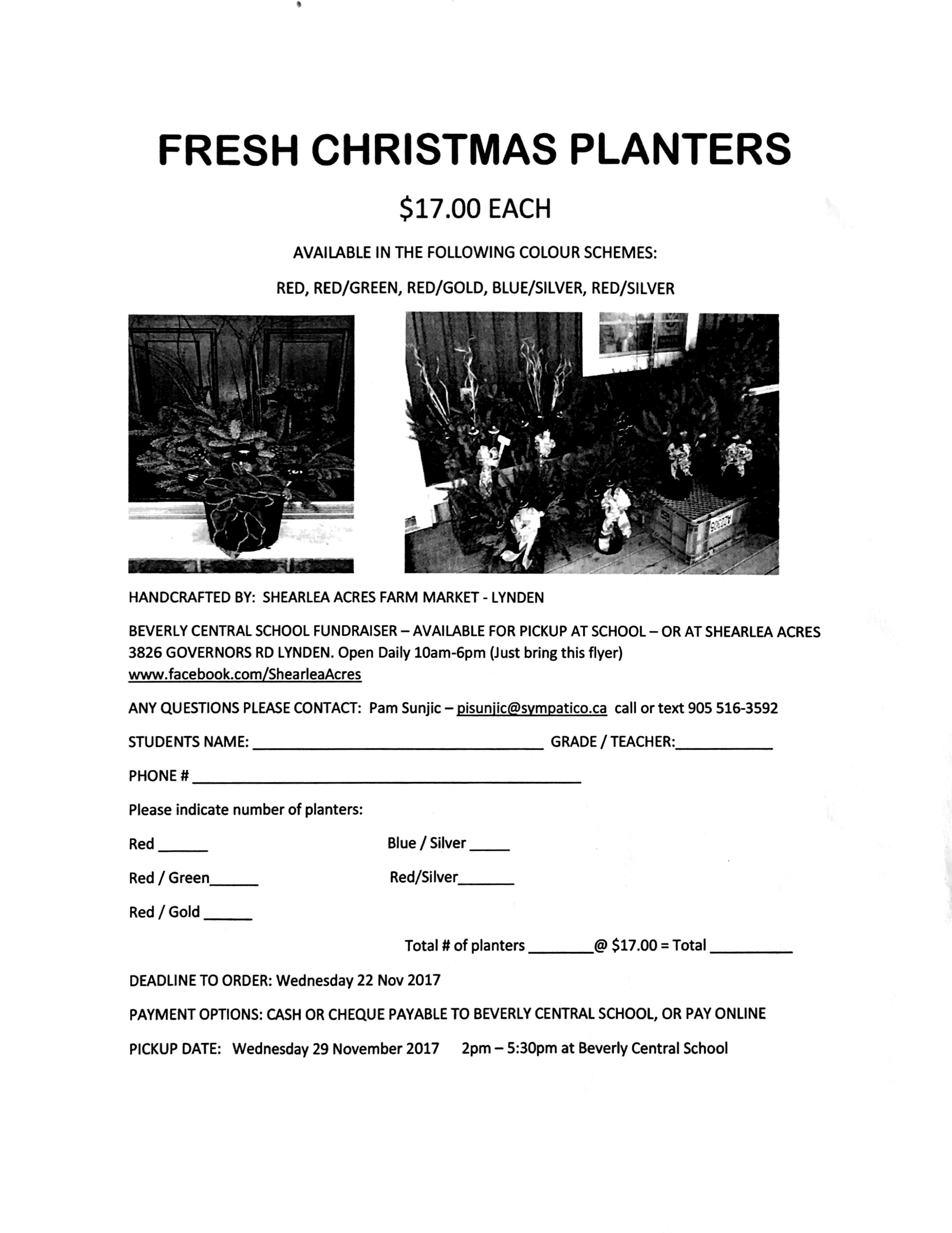 Christmas planter and subway forms – Beverly Central Grade 4 Class Blog