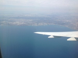 What I saw when we took off from Canada