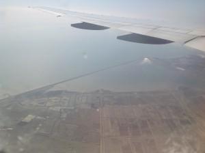 My view when we were landing into Korea