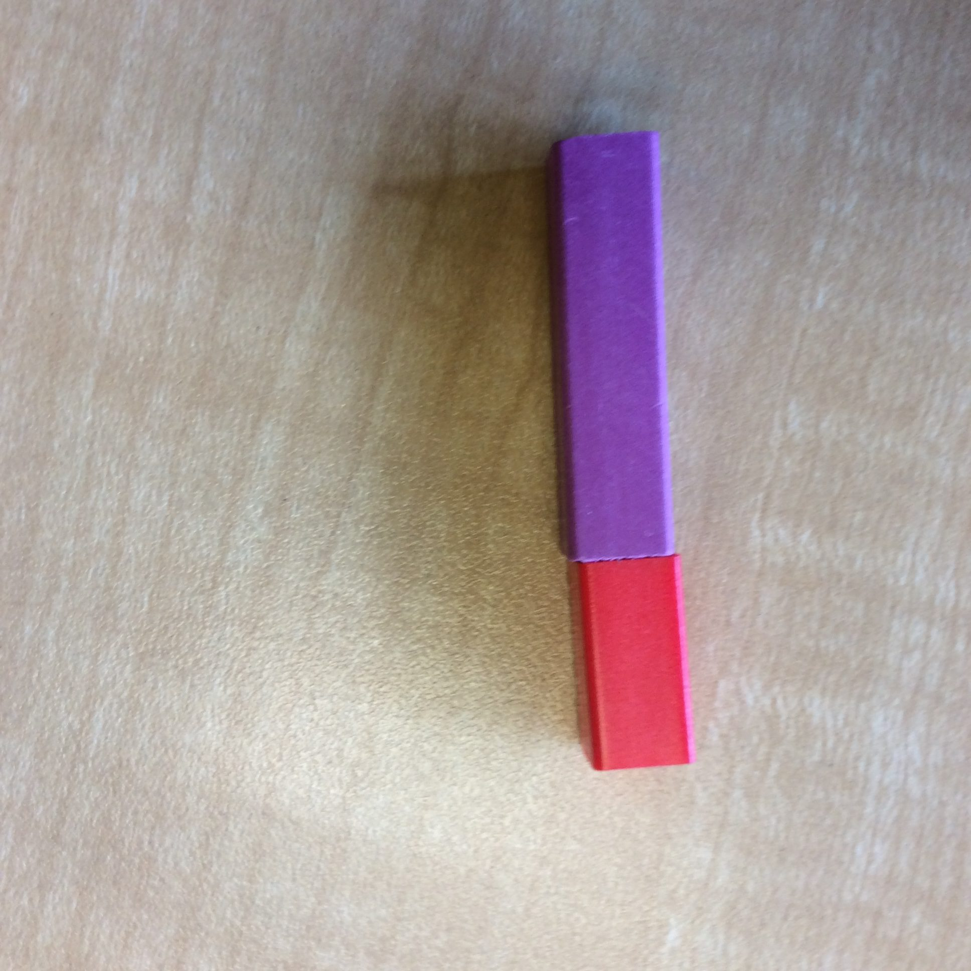 If the purple rod is 2/3 of the whole, what does the whole look like?
