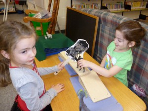 these Kindergarten children retell this fun story at the puppet centre in the library.