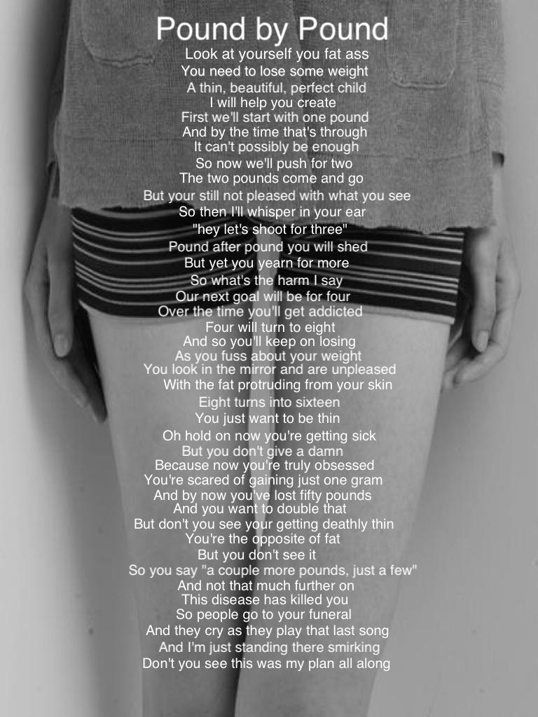I love anorexia