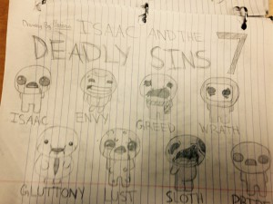 Isaac and the 7 Deadly Sins: Gluttony, Envy, Lust, Greed, Sloth, Wrath, and Pride
