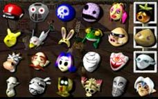 The complete mask collection. Photo from: http://ca.ign.com/wikis/the-legend-of-zelda-majoras-mask