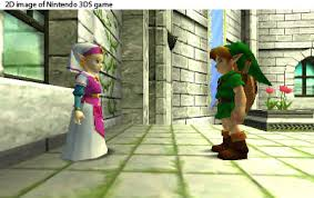 This photo shows young Link warning young Zelda about the future. Photo from: http://www.cubed3.com/preview/375/1/the-legend-of-zelda-ocarina-of-time-3d-hands-on-nintendo-3ds.html