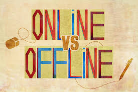 The two worlds we live in. Photo from: http://www.nutshellcreative.co.uk/offline-vs-online-get-personal-print/