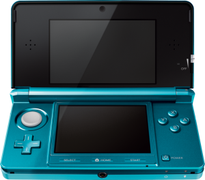 A 3DS. Photo from: http://zelda.wikia.com/wiki/Nintendo_3DS