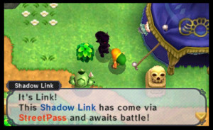 An interaction with a Shadow Link. Photo from: http://www.gamezone.com/originals/the-legend-of-zelda-a-link-between-worlds-cheats-how-to-unlock-shadow-link-streetpass