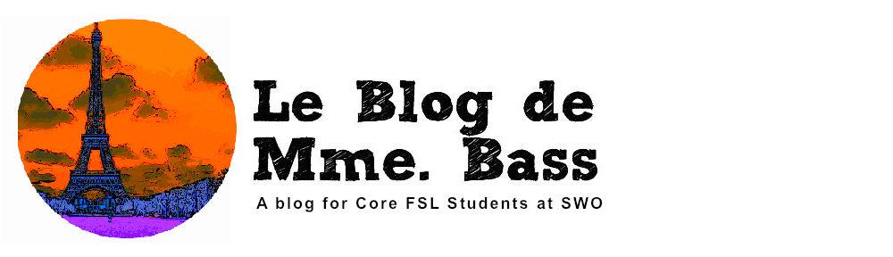 Le Blog de Mme. Bass