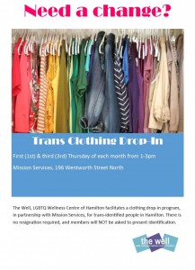 trans clothing bank