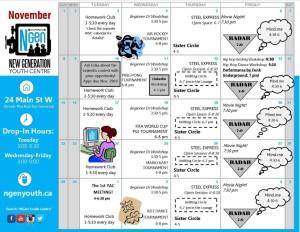 NGen Nov. schedule